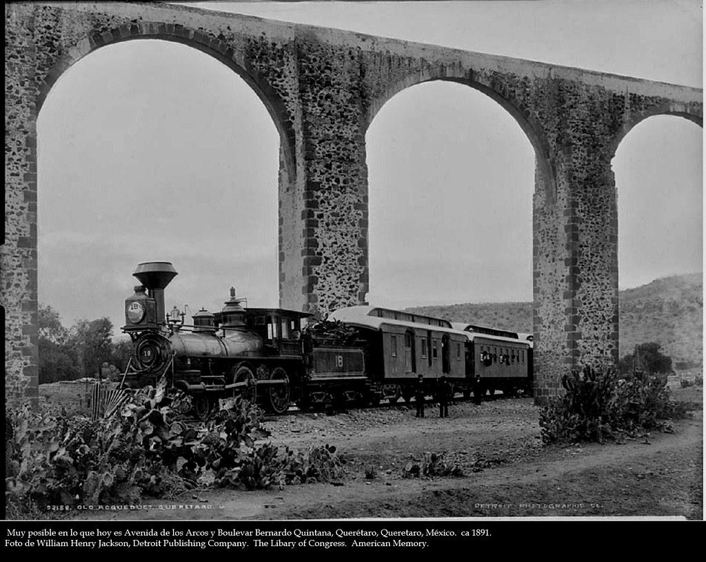Querétaro, acueducto, ca1891 | Sitio más posible Boulevar