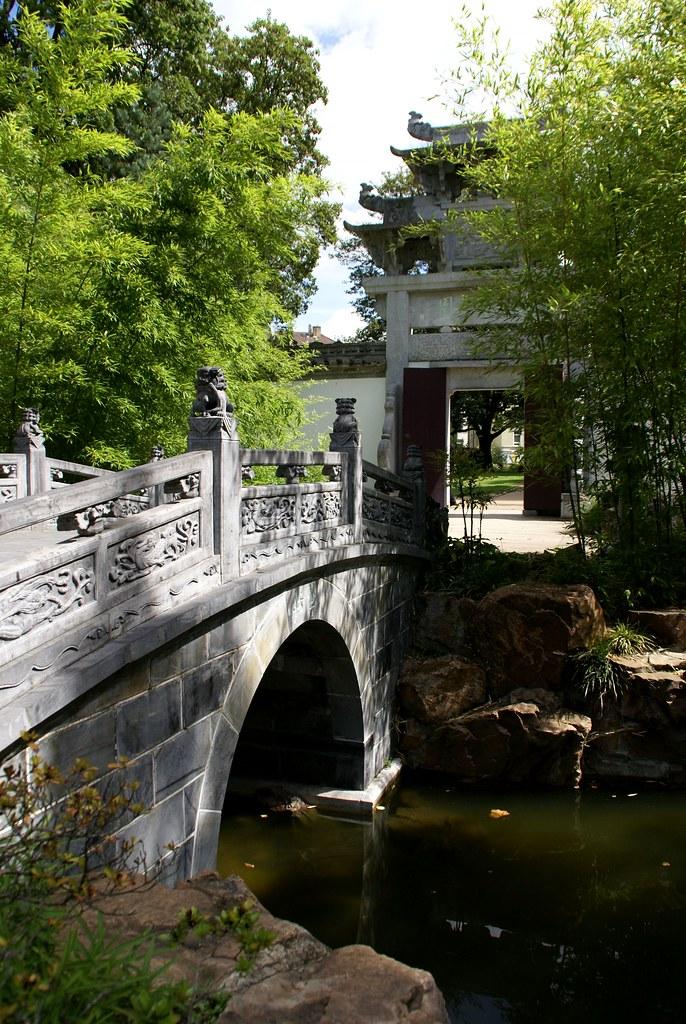 Frankfurt, chinesischer Garten, Brücke des halben Bootes (… | Flickr