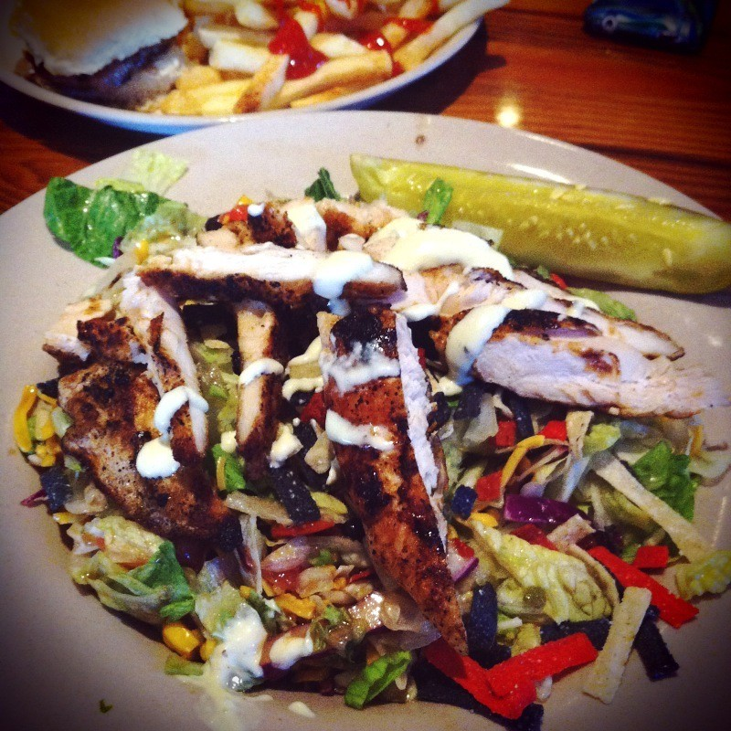 citrus key lime salad with blackened chicken   miller s al