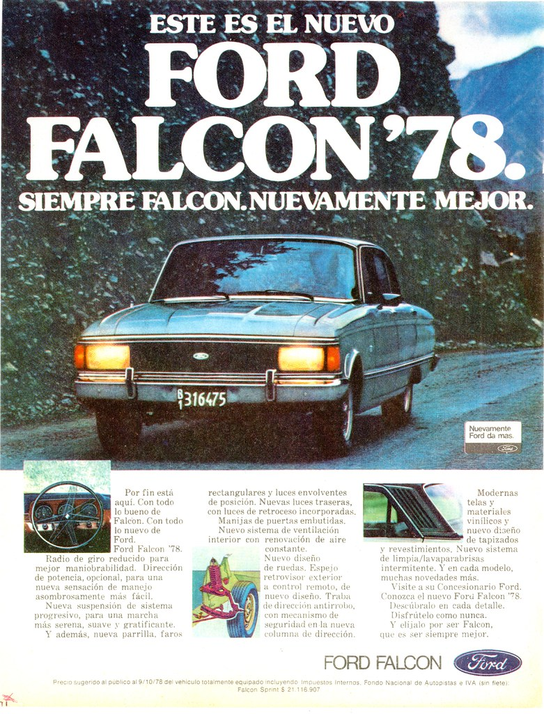 1978 Ford Falcon Argentina New For 78 The Sixth