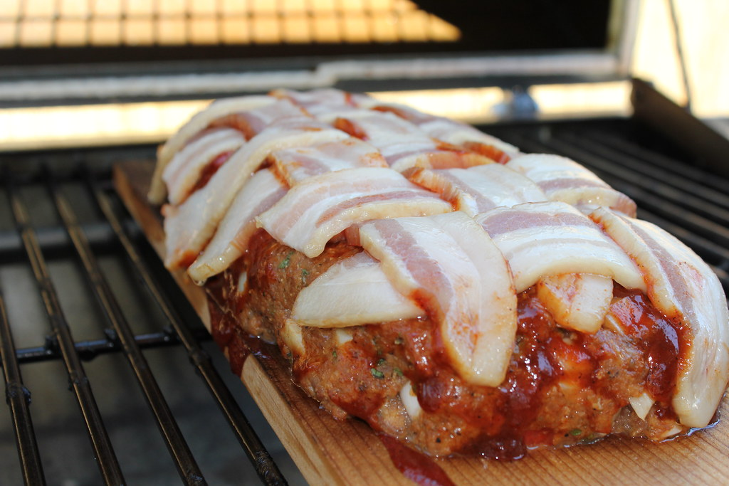 Plank cooked BBQ Turkey and Chorizo meatloaf!   Plank cookin ...