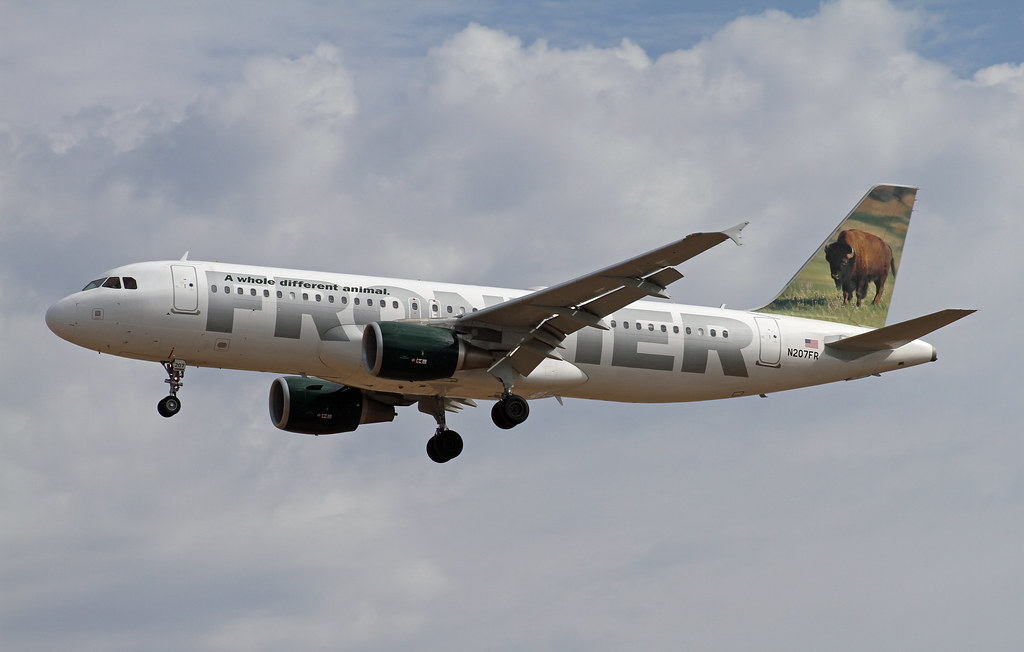 Frontier Airlines, Airbus A320, Bison, N207FR | Airbus ...