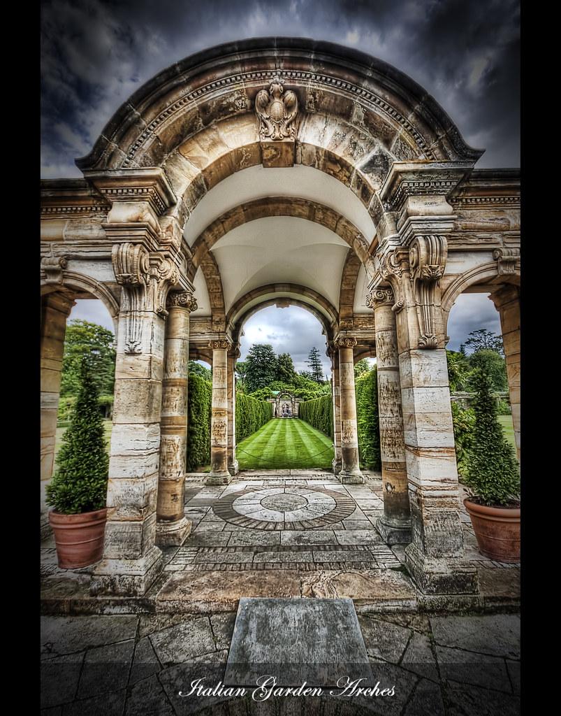 Beautiful garden wallpaper - Italian Garden Arches Part Of The Beautiful Gardens At