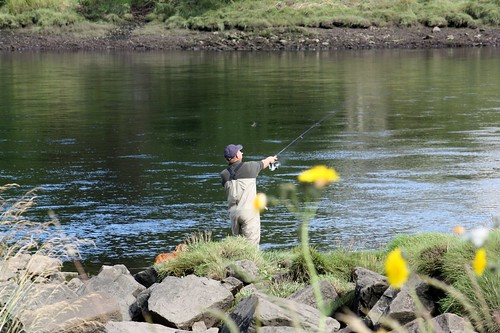 People fishing on kyle of sutherland ross mackenzie for Videos of people fishing