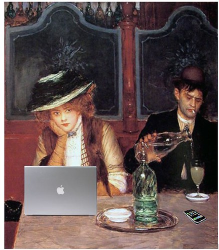 Internet Café, after Jean Béraud