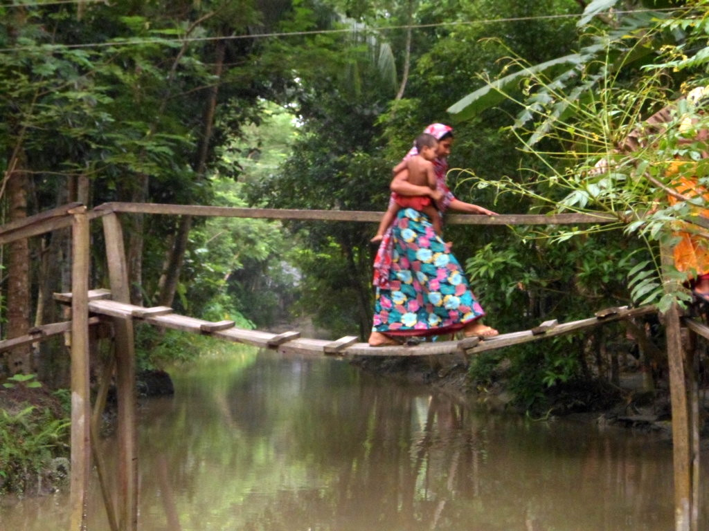 Bangladesh S Rural Areas This Picture Depicts The Way Of