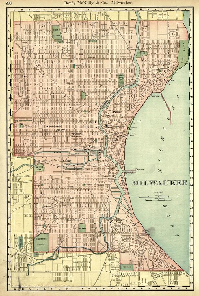 Milwaukee Street Map Thornydalemapco Flickr - Vintage milwaukee map