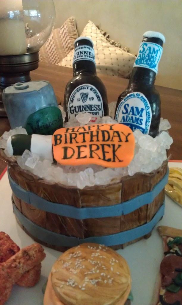 Beer Themed Birthday Cake  I Was Asked To Make A Surprise Flickr - Buffalo birthday cake