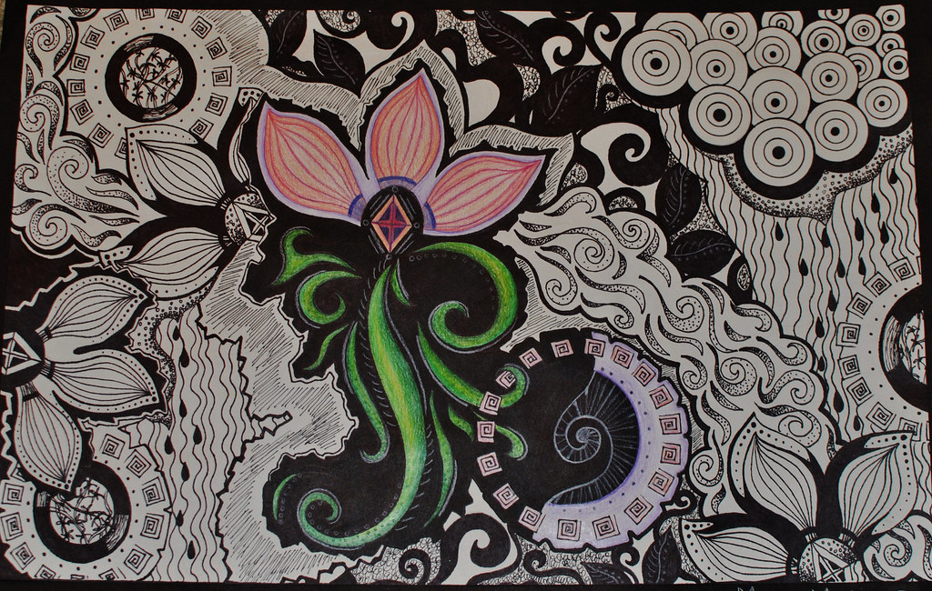 Line Design Art Project : Senior year line design project megan martinez flickr