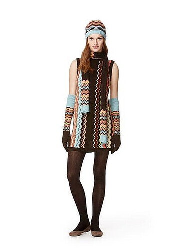 Missoni for Target dress, gloves, hat, scarf | by Célèste of Fashion is Evolution