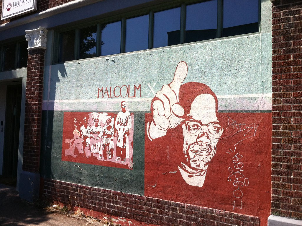 Malcolm X Mural It 39 S A Shame Some Jerk Stuck Graffiti