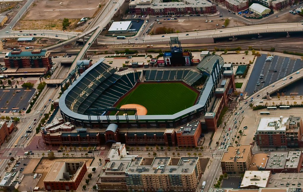 coors field denver colorado aerial view of coors field flickr