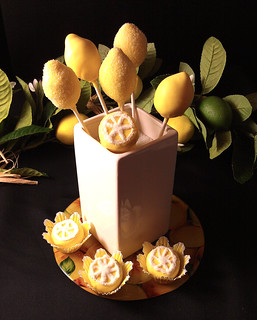 Cake Pops, Lemon Centerpiece | by IrishMomLuvs2Bake