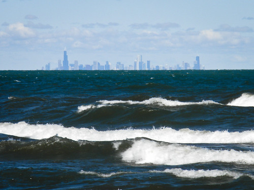 The Chicago Skyline from Ogden Dunes | by vxla