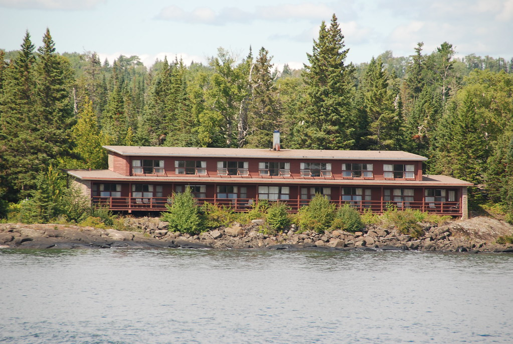 The Rock Harbor Lodge As We Are Departing From Rock Harbo