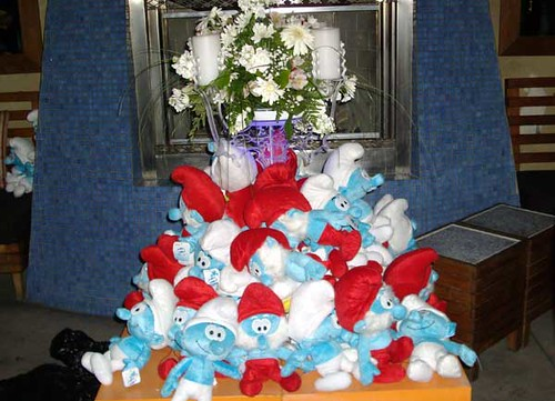 Stack 'O Smurfs at Clever Girls Party | by sdenisehoyle