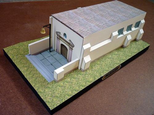 capilla pro vista general maqueta de papel dise ada