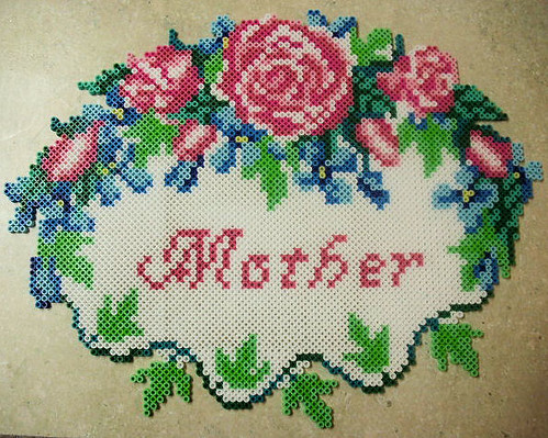 Mother Perler Beads Wall Hanging I Made This From A