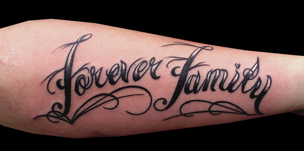 Family Forever Tattoos Forever family writing tattoo