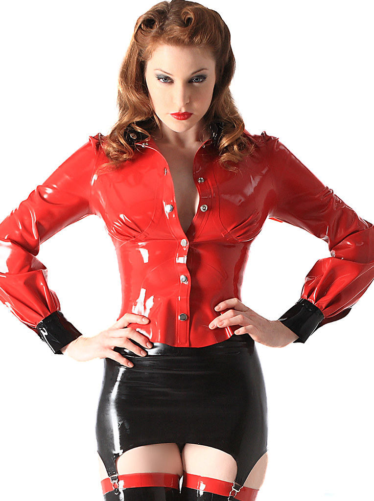 Latex School Mistress Blouse Amp Latex Girdle Sexy Fitted