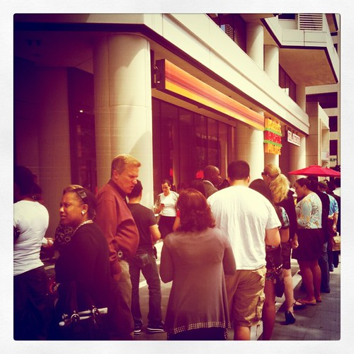 Hungry folks line up on K St. for Bobby's Burgers | by MarieEOliver
