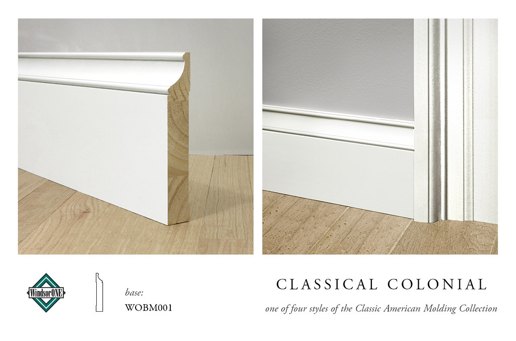 Classical colonial base molding base for the classical for Colonial style trim