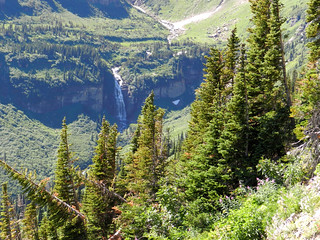 Distant waterfall, Glacier Nat'l park | by UpNorthica