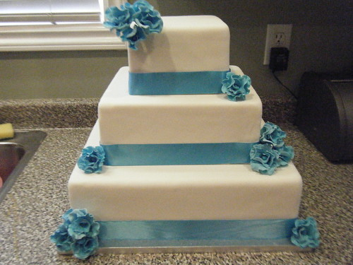 Fake Fondant Wedding Cake