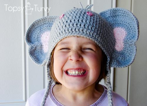 Crochet Elephant Hat Curtsay Pattern Imtopsyturvycroc Flickr