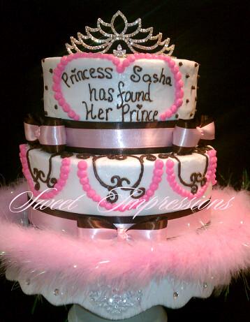 princess bridal shower cake by sweet impressions arlene