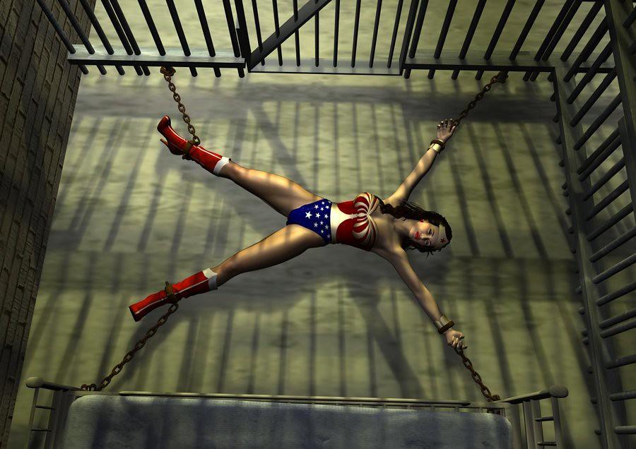 Wonder Woman Chained 3 Steve Trevor Flickr-9207
