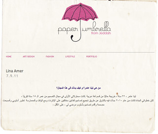 Interview on Paper Umbrella Blog. | by Lina Amer