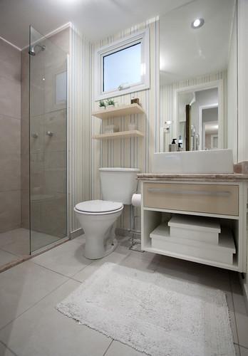 Mais Estilo & Design  Apto Decorado 69m²  Banheiro 01  Flickr -> Banheiro Decorado Apto