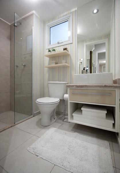 Mais Estilo & Design  Apto Decorado 69m²  Banheiro 01  Flickr -> Banheiro Suíte Decorado