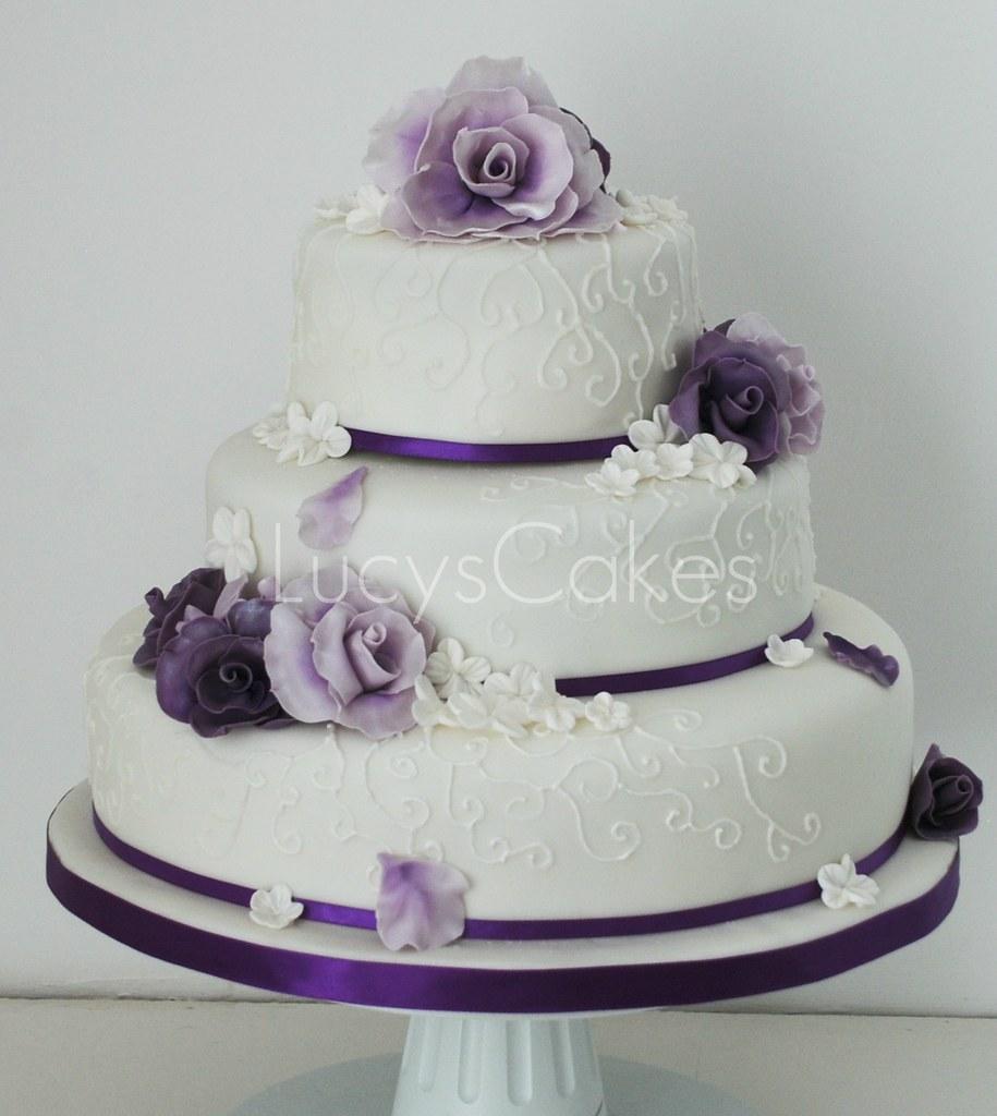 Rose Wedding Cake: Visit Me And LIKE My Facebook