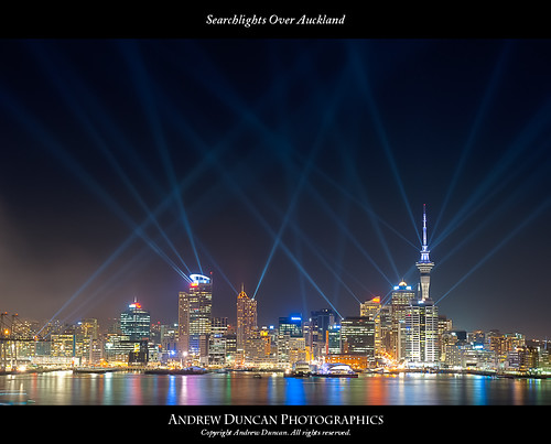 Searchlights Over Auckland | by aduncanator