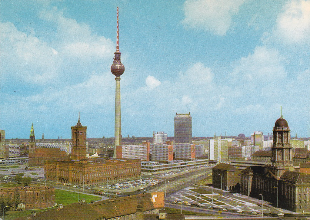 vintage berlin postcard fernsehturm by mark 2400 guide