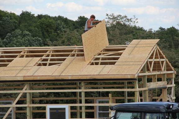 Roof Sheathing | This customer requested a sheathing of ...