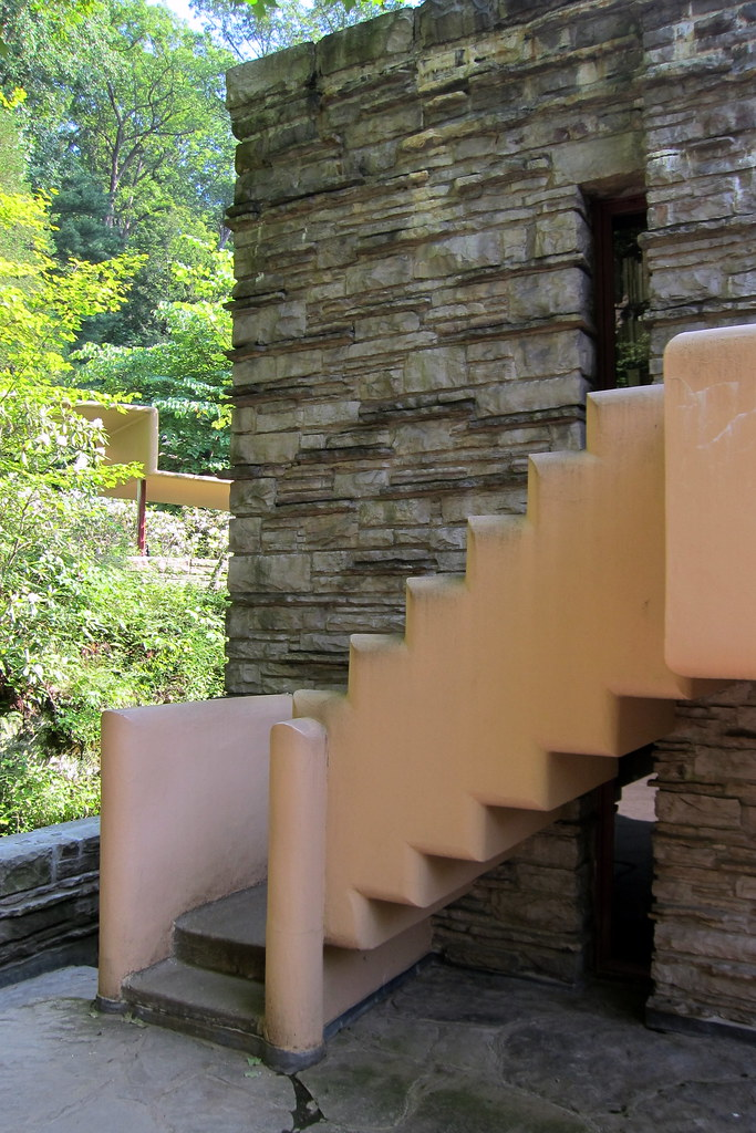 ... PA   Mill Run: Fallingwater   Stairs From West Terrace | By Wallyg
