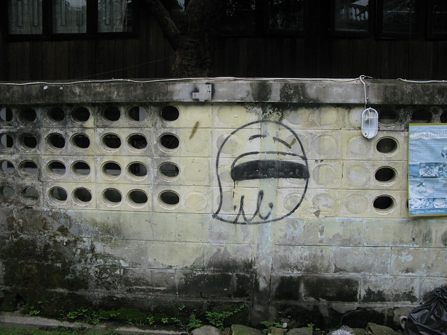 a graffiti ghost
