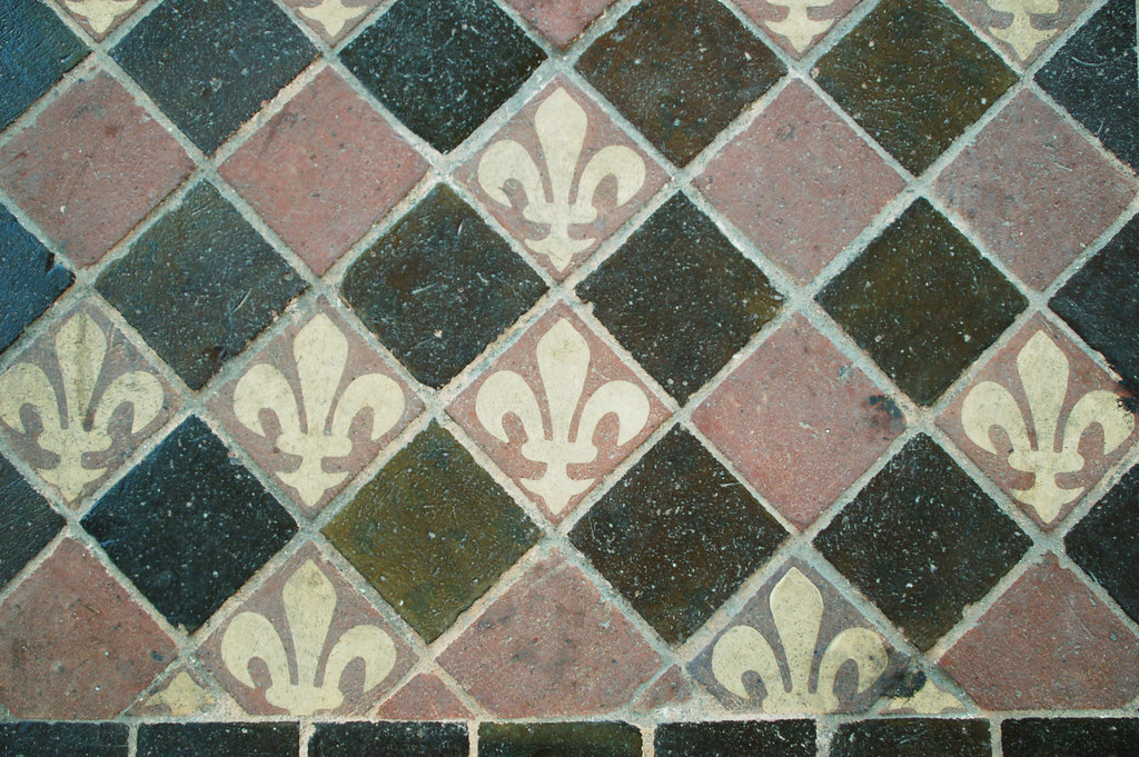 Fleur De Lis Ceramic Floor Tiles Royaumont Monceau Flickr