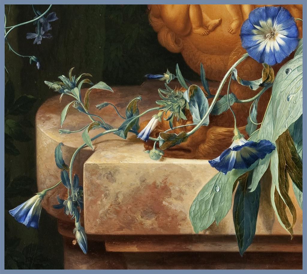 How Much Is Oil >> Jan van Huysum 1724 'Bouquet of Flowers in an Urn' (detail