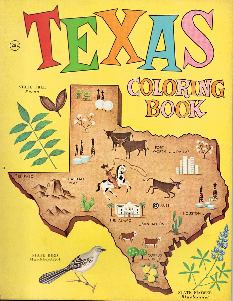 Texas Coloring Book, 1963 | Red Oak Kid | Flickr