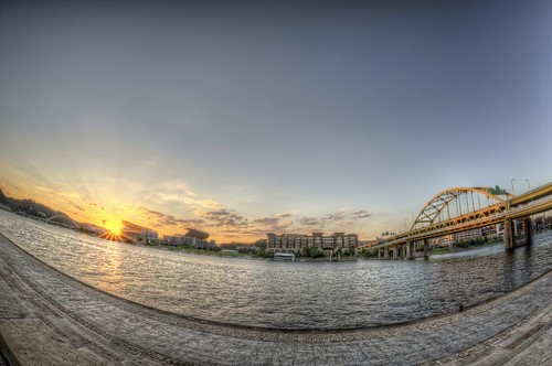 Sunflare over Heinz Field Fisheye HDR | by Dave DiCello