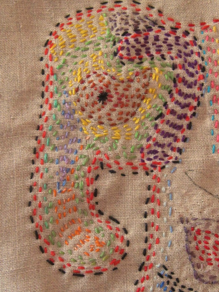 Running stitch embroidery of an elephant constanza flickr