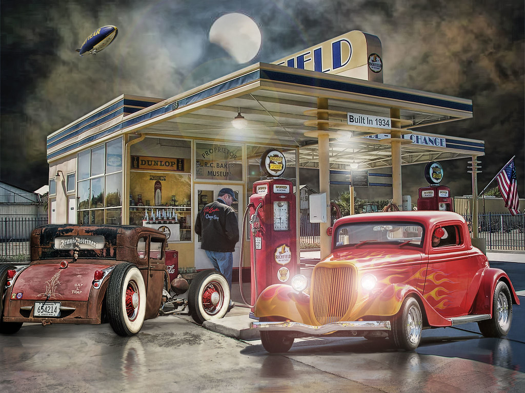 Moonlight cruisers i did two versions of this the for Western garage