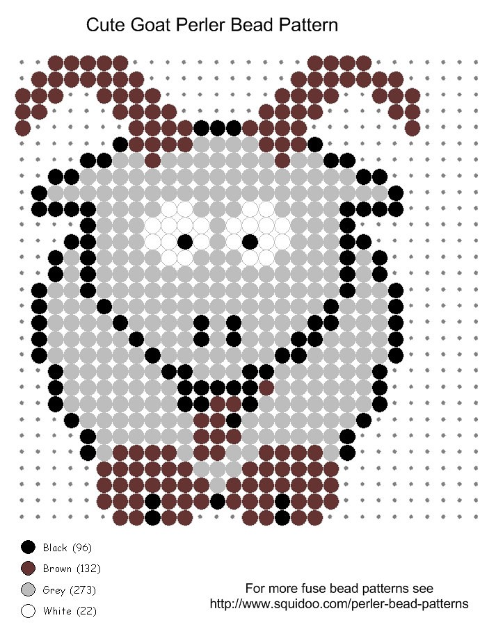Cute goat perler bead pattern Cute goat perler bead patter Flickr Unique Cute Perler Bead Patterns