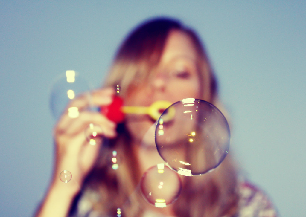 Blowing Soap Blowing Soap Bubbles | by