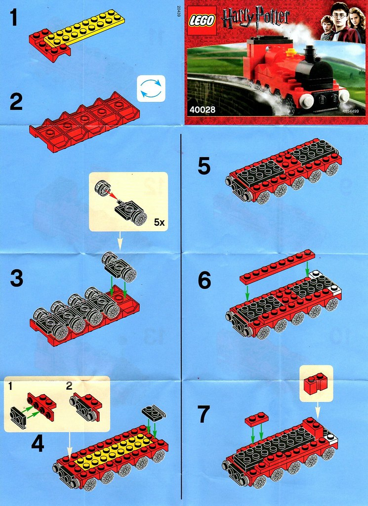 Lego Harry Potter Hogswart Express Mini Model 40028 Instru Flickr