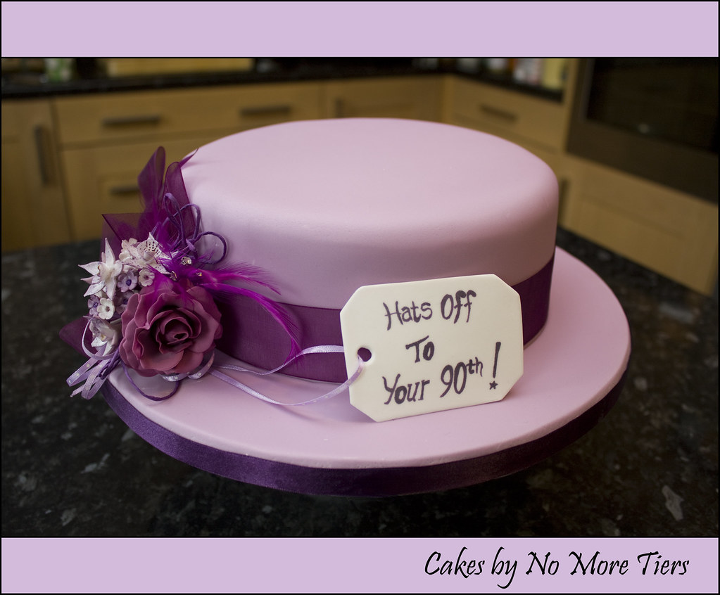 Hat Cake For My Nanas 90th Still In Major Catch Up Mode Flickr